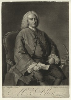Ralph Allen, by John Faber Jr, after  Thomas Hudson, 1754 - NPG D344 - © National Portrait Gallery, London