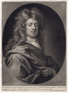 Sir Godfrey Kneller, Bt, by Pieter Schenck, after  Sir Godfrey Kneller, Bt, (circa 1688-1690) - NPG D3441 - © National Portrait Gallery, London