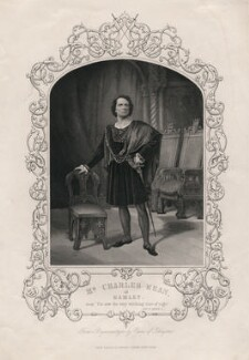 Charles John Kean as Hamlet, after a daguerreotype by William Paine - NPG D3449