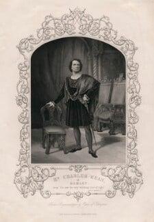 Charles John Kean as Hamlet, after a daguerreotype by William Paine - NPG D3449