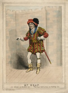 Edmund Kean as Gloster [Gloucester] in Richard III, by and published by J. Prynn, circa 1814-1833 - NPG  - © National Portrait Gallery, London