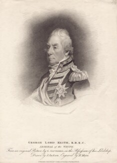 George Keith Elphinstone, Viscount Keith, by Henry Meyer, published by  T. Cadell & W. Davies, after  John Jackson, after  George Sanders (Saunders), published 1 February 1812 - NPG D3457 - © National Portrait Gallery, London