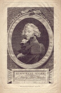 Michael Kelly, by James Neagle, published by  Alexander Hogg, after  Sir Thomas Lawrence - NPG D3462