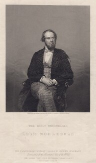 John Wodehouse, 1st Earl of Kimberley, by Daniel John Pound, after a photograph by  John Watkins, late 1850s-1870s - NPG D3491 - © National Portrait Gallery, London