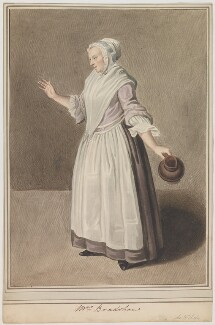 Mary Bradshaw in Garrick's 'The Farmer's Return from London', by Samuel De Wilde, after  Johan Joseph Zoffany - NPG D35