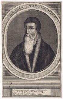 Unknown man engraved as John Knox, by Richard Cooper, after  Unknown artist - NPG D3504