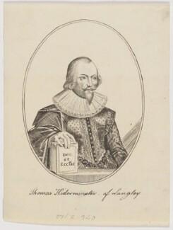 Sir John Kederminster, after Thomas Cecill - NPG D3513