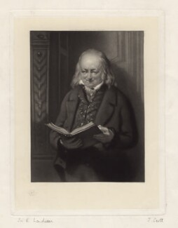 John George Landseer, by James Scott, after  John George Landseer - NPG D3532