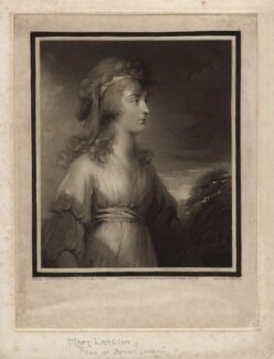 Mary Langton, by Samuel William Reynolds, after  Carl Fredrik von Breda - NPG D3535