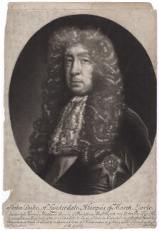 John Maitland, Duke of Lauderdale, by and published by Isaac Beckett, after  John Riley - NPG D3542