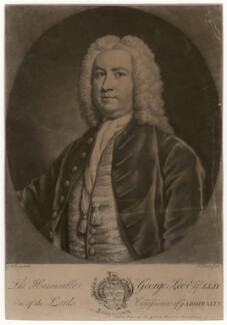 Sir George Lee, by and published by John Faber Jr, after  James Wills - NPG D3550
