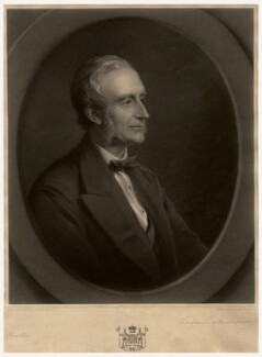 John Thornton Leslie-Melville, 9th Earl of Leven and 8th Earl of Melville, by John Douglas Miller, after  George Richmond - NPG D3560