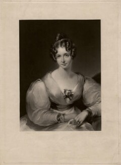 Lady (Maria) Theresa Lewis (née Villiers), by George Henry Phillips, after  Gilbert Stuart Newton - NPG D3562