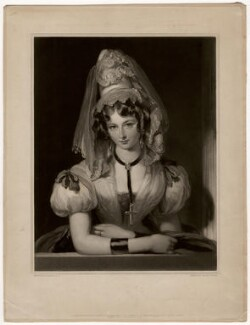 Lady (Maria) Theresa Lewis (née Villiers) when Mrs Lister, by Samuel Cousins, published by  Colnaghi, Son & Co, published by  Sir Francis Graham Moon, 1st Bt, after  Gilbert Stuart Newton - NPG D3563