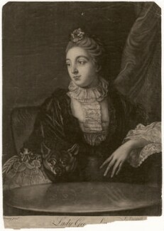 Lady Louisa Lennox (née Kerr), by Richard Purcell (H. Fowler, Charles or Philip Corbutt), after  Allan Ramsay - NPG D3570