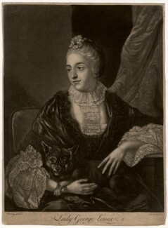 Lady Louisa Lennox (née Kerr), by Richard Purcell (H. Fowler, Charles or Philip Corbutt), after  Allan Ramsay - NPG D3572