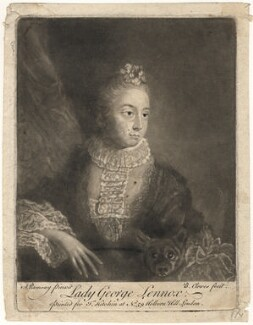 Lady Louisa Lennox (née Kerr), by Butler Clowes, published by  Thomas Kitchin, after  Allan Ramsay - NPG D3574