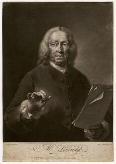 Richard Leveridge, by William Pether, after  Thomas Frye - NPG D3577