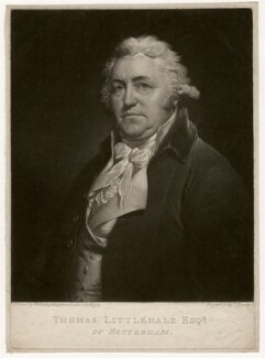 Thomas Littledale, by Thomas Hardy, after  Sir William Beechey - NPG D3595