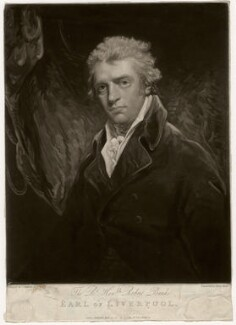 Robert Jenkinson, 2nd Earl of Liverpool, by Henry Meyer, published by  Robert Cribb, after  John Hoppner - NPG D3596