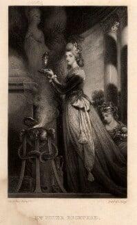 Louisa Beckford (née Pitt), by Frederick Bromley, after  Sir Joshua Reynolds - NPG D3600