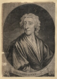 John Locke, by John Simon, after  Sir Godfrey Kneller, Bt - NPG D3605