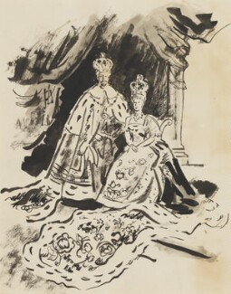 King George V; Queen Mary, by Cecil Beaton - NPG D3616