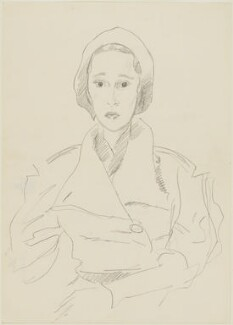 A passenger on board the ocean liner 'Europa', possibly Pamela Margaret Elizabeth Berry (née Smith), Lady Hartwell or possibly Sheila (née Berry), Countess of Birkenhead, by Cecil Beaton - NPG D3641a