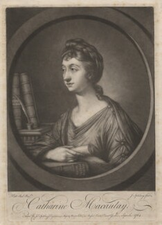 Catharine Macaulay (née Sawbridge), by Jonathan Spilsbury, published by  John Spilsbury, after  Katharine Read - NPG D3648