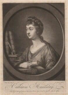 Catharine Macaulay (née Sawbridge), by Jonathan Spilsbury, published by  John Spilsbury, after  Katharine Read, published September 1764 - NPG D3648 - © National Portrait Gallery, London
