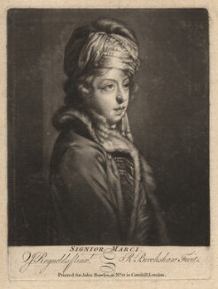 Giuseppe Filippo Liberati ('Joseph') Marchi, by Richard Brookshaw, published by  John Bowles, after  Sir Joshua Reynolds - NPG D3666
