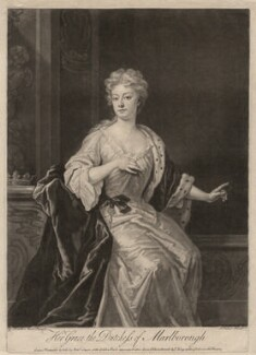 Sarah Churchill (née Jenyns (Jennings)), Duchess of Marlborough, by John Faber Jr, printed for and sold by  Robert Sayer, printed for and sold by  John King, after  Sir Godfrey Kneller, Bt - NPG D3670