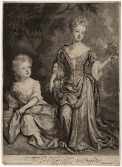 Countess of Sunderland and Duchess of Marlborough, by and published by John Smith, after  Sir Godfrey Kneller, Bt, 1688 (1688) - NPG D3671 - © National Portrait Gallery, London