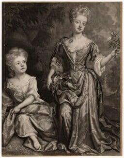Countess of Sunderland and Duchess of Marlborough, by John Smith, after  Sir Godfrey Kneller, Bt - NPG D3673