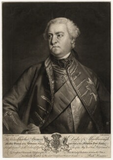 Charles Spencer, 3rd Duke of Marlborough, by Richard Houston, after  Sir Joshua Reynolds - NPG D3675