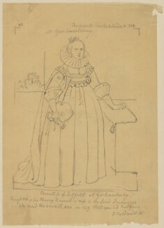 Possibly Katherine Howard (née Knyvett), Countess of Suffolk, by Sir George Scharf - NPG D37