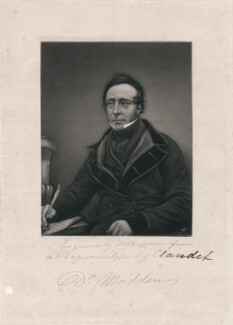 Dr Madden, by T.W. Huffam, after a daguerreotype by  Antoine Claudet - NPG D3724