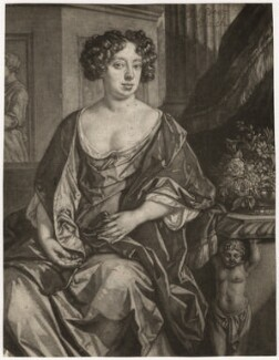 Essex Finch (née Rich), Countess of Nottingham, after Jan van der Vaart, published by  Richard Tompson, after  Sir Peter Lely - NPG D3746