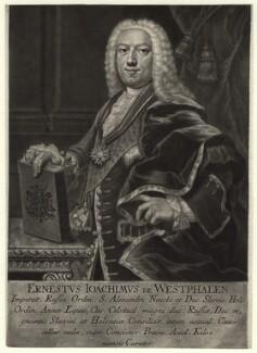 Ernest-Joachim de Westphalen, by Johann Jakob Haid, after  Balthasar Denner - NPG D3781