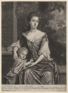 Mary Butler (née Somerset), Duchess of Ormonde and her son Thomas, Earl of Ossory, by and published by John Smith, after  Sir Godfrey Kneller, Bt - NPG D3785