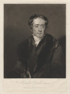 Alexander Oswald, by Thomas Hodgetts, after  Andrew Geddes - NPG D3788