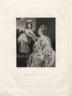 Sarah Mayne (née Otway); Sarah Otway (née Hayes), by James Scott, after  Sir Joshua Reynolds - NPG D3790