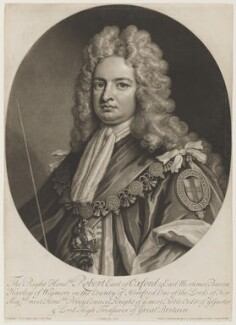Robert Harley, 1st Earl of Oxford, by and published by John Smith, after  Sir Godfrey Kneller, Bt - NPG D3793