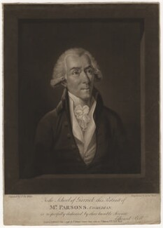 William Parsons, by Edward Bell, published by  Peter Brown, published by  John Paul Manson, after  Samuel De Wilde - NPG D3810