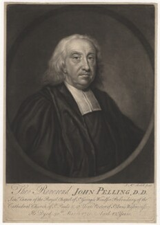 John Pelling, by James Macardell, after  Unknown artist - NPG D3839