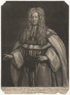 Sir Thomas Pengelly, by John Faber Jr, after  James Worsdale - NPG D3840