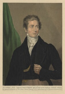Sir Robert Peel, 2nd Bt, by George Baxter, after  Sir Thomas Lawrence - NPG D3850