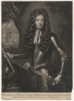 Thomas Herbert, 8th Earl of Pembroke, by John Smith, after  Willem Wissing - NPG D3859