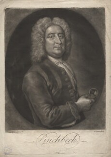Christopher Pinchbeck, by John Faber Jr, after  Isaac Whood - NPG D3884