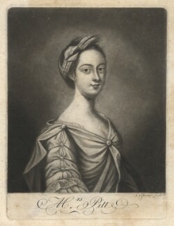 Penelope Pitt (née Atkins), Lady Rivers when Mrs Pitt, by Charles Spooner, after  Penelope Carwardine - NPG D3889